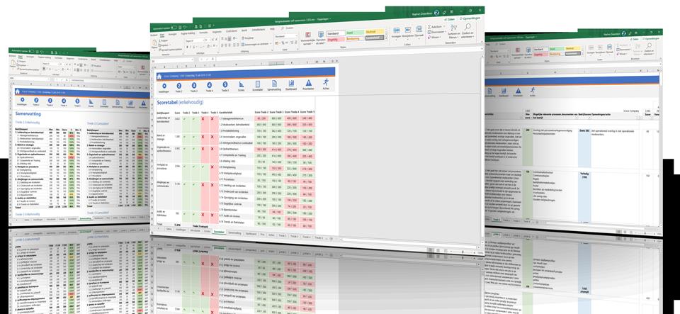 Voorbeeldschermen Veiligheidsladder in Excel
