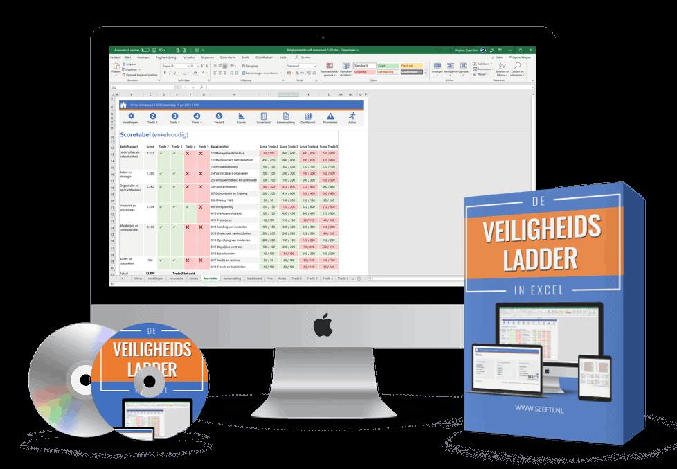 Veiligheidsladder in Excel software bundel